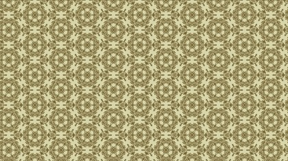 Earth Yellow Color Vintage Flower Background Pattern