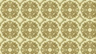 Earth Yellow Color Vintage Ornament Background Pattern Image