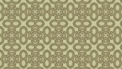 Ecru Vintage Decorative Floral Pattern Wallpaper