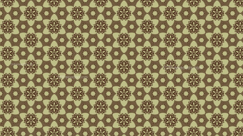 Vintage Decorative Floral Wallpaper Pattern