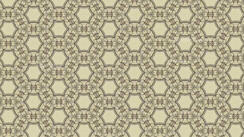 Ecru Vintage Decorative Ornament Wallpaper Pattern