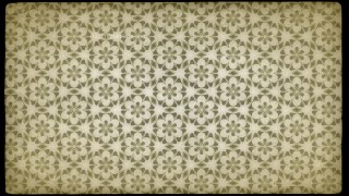 Ecru Vintage Decorative Floral Seamless Pattern Wallpaper Design