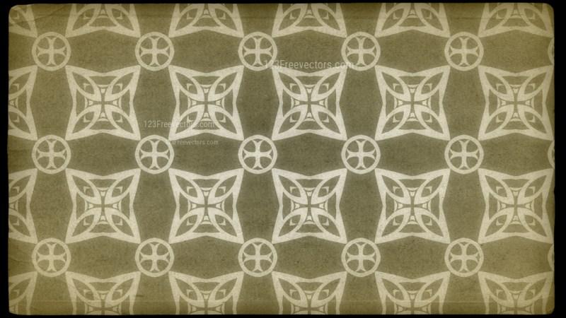 Ecru Vintage Ornamental Pattern Wallpaper