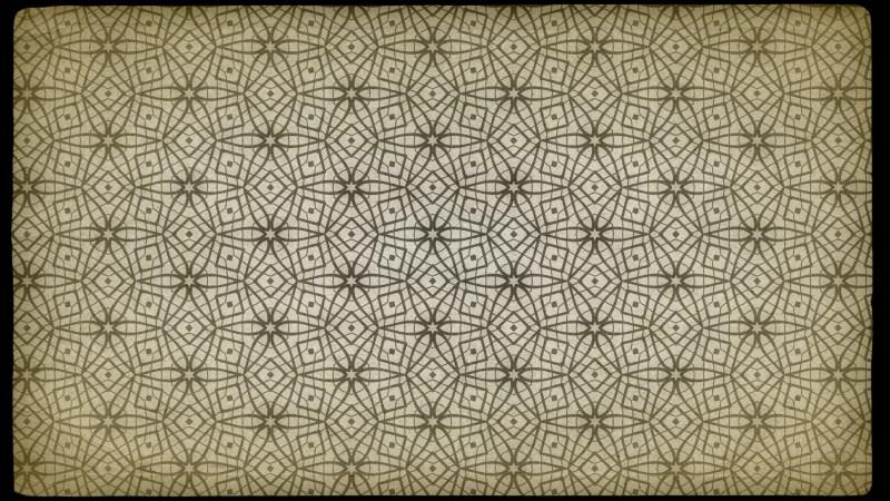 Ecru Vintage Floral Pattern Texture Background Template