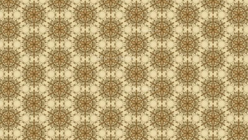 Ecru Vintage Ornamental Seamless Pattern Wallpaper Template