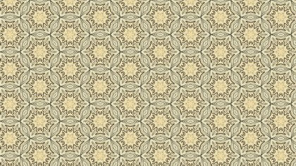 Ecru Vintage Floral Seamless Pattern Background Graphic