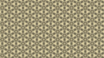 Ecru Vintage Seamless Floral Background Pattern
