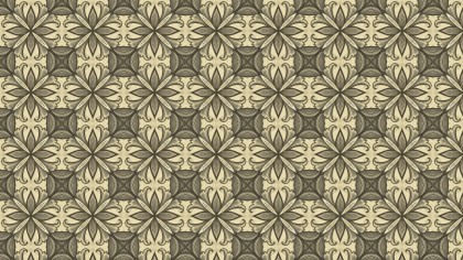 Ecru Vintage Floral Pattern Wallpaper