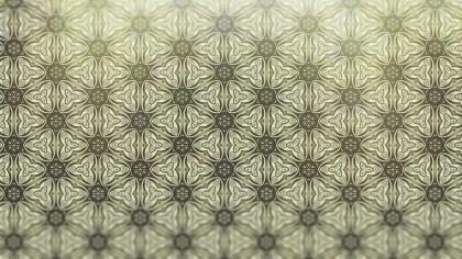 Ecru Vintage Seamless Ornamental Pattern Wallpaper