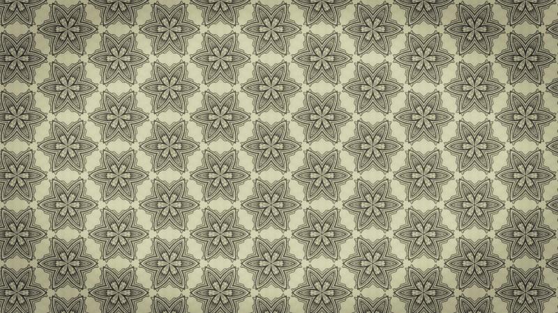 Ecru Vintage Floral Pattern Background