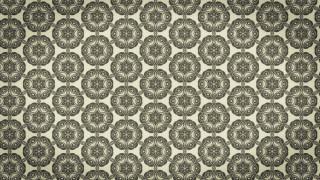Ecru Vintage Floral Ornament Background Pattern Template