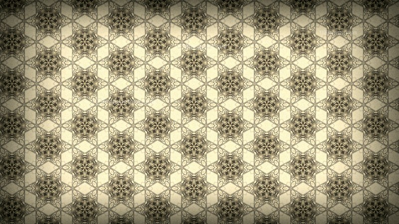 Ecru Vintage Floral Seamless Pattern Wallpaper Design Template