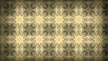 Ecru Vintage Ornamental Pattern Wallpaper