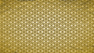 Gold Vintage Decorative Floral Ornament Wallpaper Pattern Image
