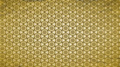 Gold Vintage Decorative Floral Ornament Wallpaper Pattern Image