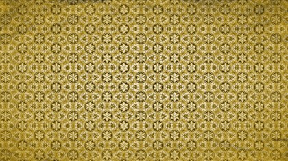 Gold Vintage Decorative Ornament Wallpaper Pattern