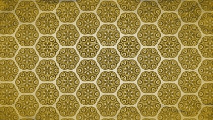 Gold Vintage Floral Ornament Wallpaper Pattern Graphic