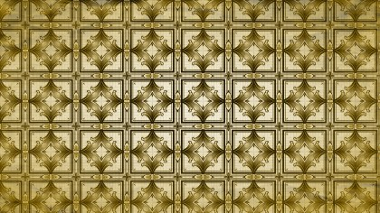 Gold Vintage Seamless Ornament Wallpaper Pattern Design Template