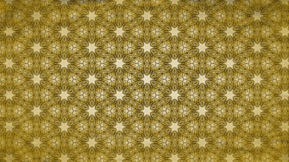 Gold Vintage Floral Pattern Texture Background Template