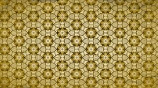 Gold Vintage Floral Ornament Background Pattern Template