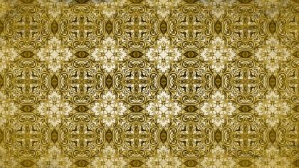 Gold Vintage Decorative Floral Seamless Pattern Wallpaper Design