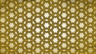 Gold Vintage Ornamental Pattern Wallpaper