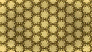 Gold Vintage Seamless Ornamental Pattern Wallpaper