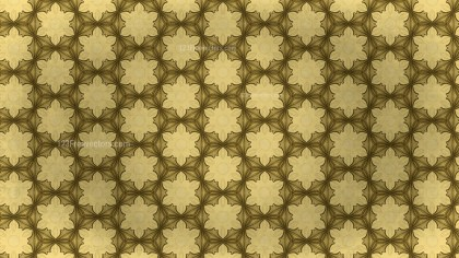 Gold Vintage Seamless Ornamental Pattern Wallpaper