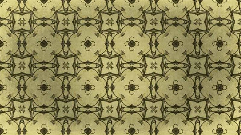 Gold Vintage Flower Wallpaper Pattern