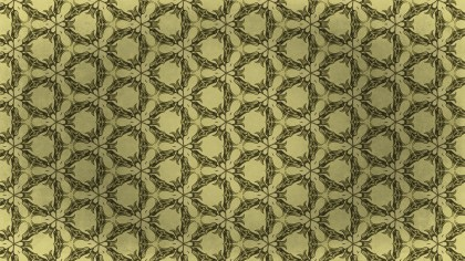 Gold Vintage Ornament Wallpaper Pattern Design