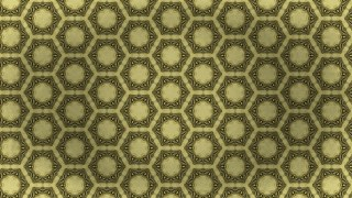 Gold Vintage Decorative Floral Pattern Background