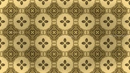 Gold Vintage Decorative Floral Seamless Pattern Background Image