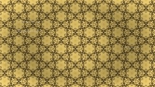 Gold Vintage Floral Pattern Background