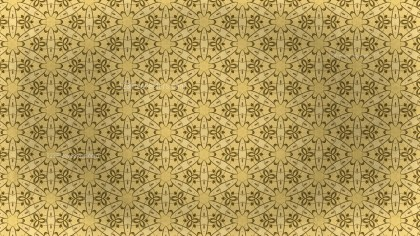 Gold Vintage Floral Seamless Pattern Background Graphic