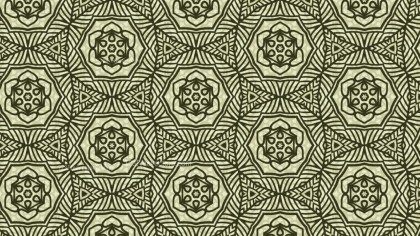 Green Vintage Decorative Ornament Background Pattern