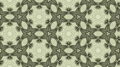 Green Vintage Floral Ornament Background Pattern Template
