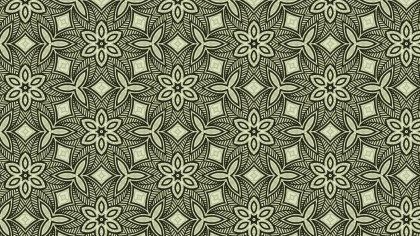 Green Vintage Flower Background Pattern