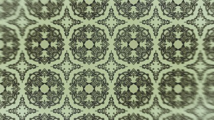 Green Vintage Seamless Floral Background Pattern