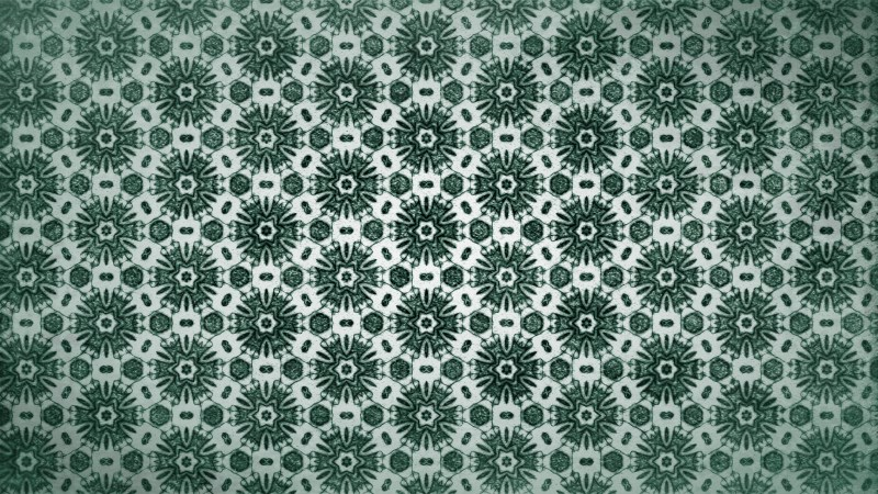 Green Vintage Floral Pattern Wallpaper