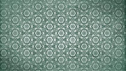 Green Vintage Ornamental Pattern Wallpaper