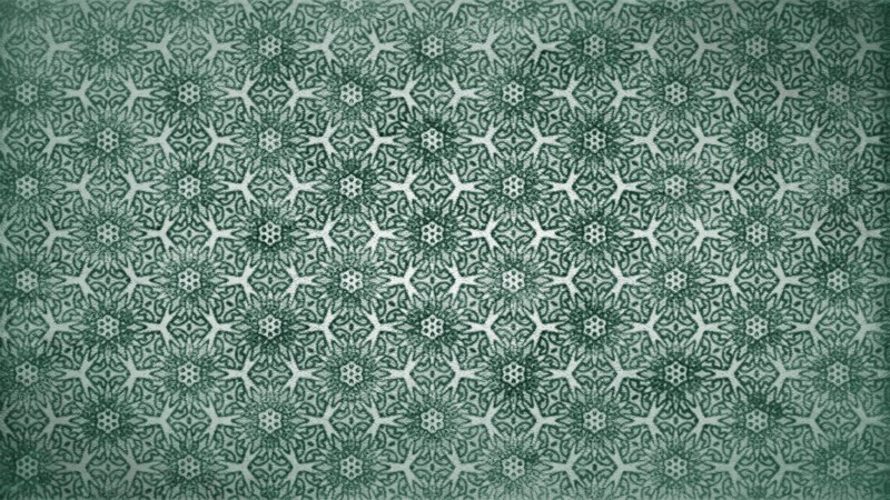 Green Vintage Seamless Ornament Wallpaper Pattern Design Template