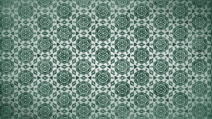 Green Vintage Floral Wallpaper Background