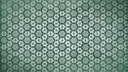 Green Vintage Floral Pattern Texture Background Template