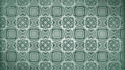Green Vintage Decorative Floral Pattern Background