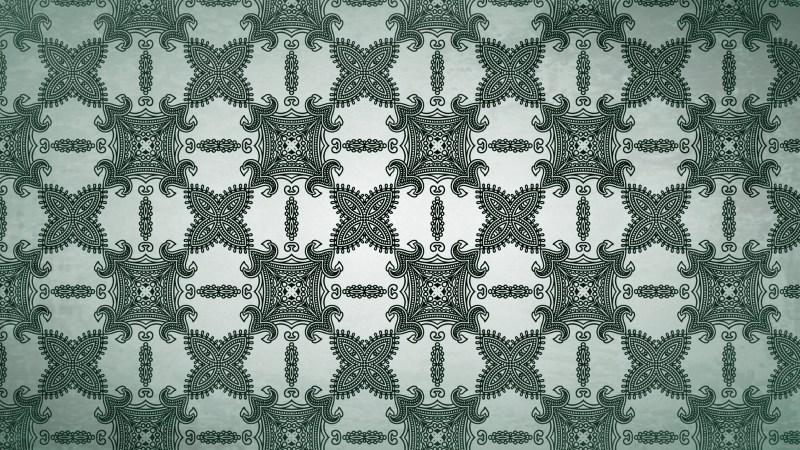 Green Vintage Decorative Floral Seamless Pattern Wallpaper Design