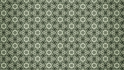 Green Vintage Ornamental Pattern Wallpaper