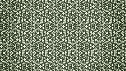 Green Vintage Decorative Ornament Wallpaper Pattern