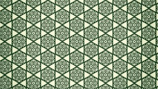 Green Vintage Ornament Wallpaper Pattern Design