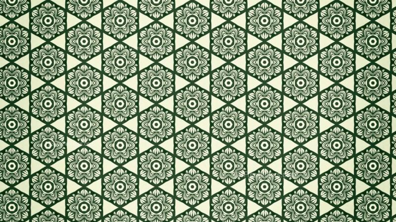 Green Vintage Ornament Wallpaper Pattern Design