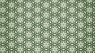 Green Vintage Seamless Floral Wallpaper Pattern